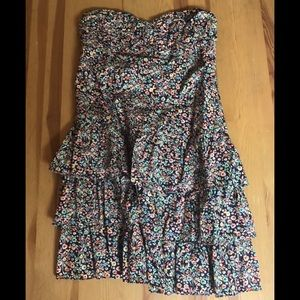 Express Tiered Ruffle Floral Dress